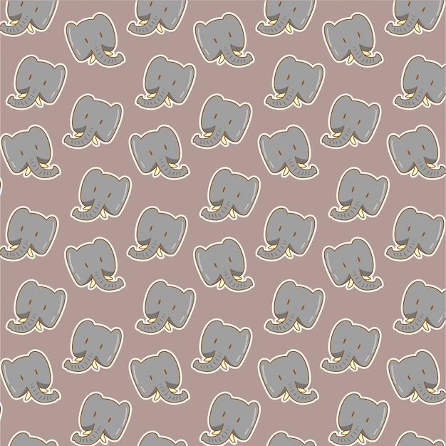 Nettes elefantenmuster auf grau