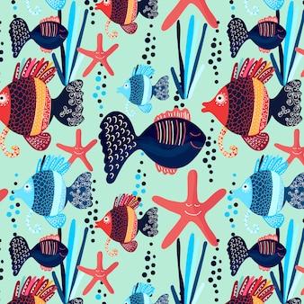 Nettes fisch-muster