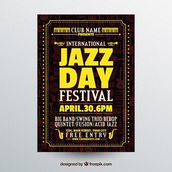 Nettes flaches plakat für internationalen jazztag