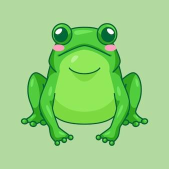 Nettes frosch-maskottchen