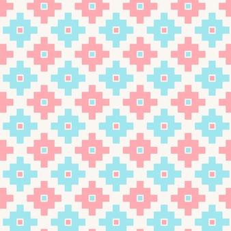 Nettes geometrisches nahtloses muster der pastellfarben