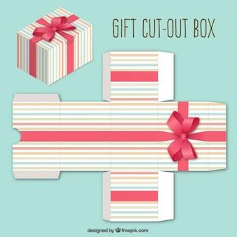 Nettes geschenk-box mit einem bogen