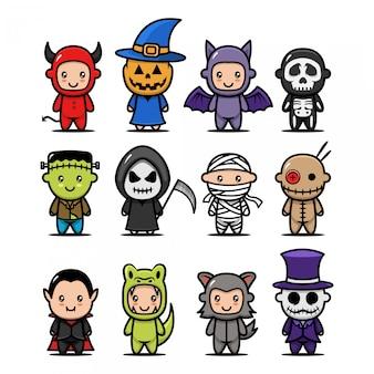 Nettes halloween-kostüm
