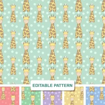 Nettes hand gezeichnetes giraffen-digital-papier