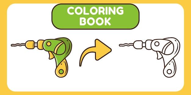 Nettes handgezeichnetes cartoon-doodle-malbuch für kinder