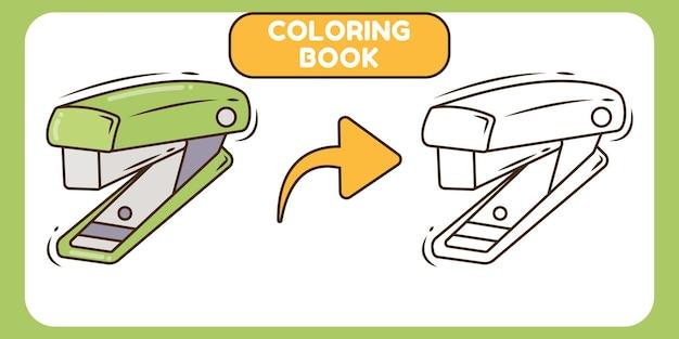 Nettes hefter handgezeichnetes cartoon-doodle-malbuch für kinder