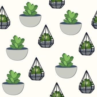 Nettes kaktus-muster