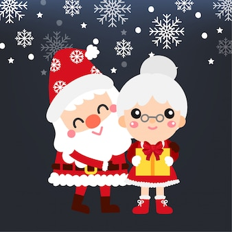 Nettes Karikatur-Weihnachtskonzept.
