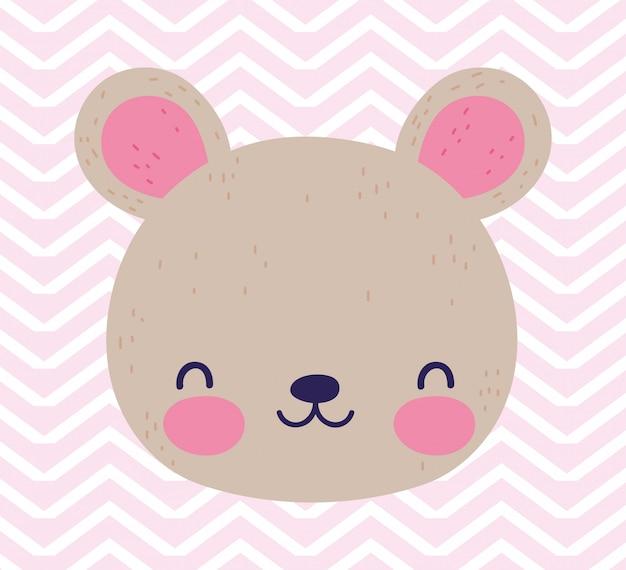 Nettes kleines teddybärgesichtsspielzeug der babypartyliebe