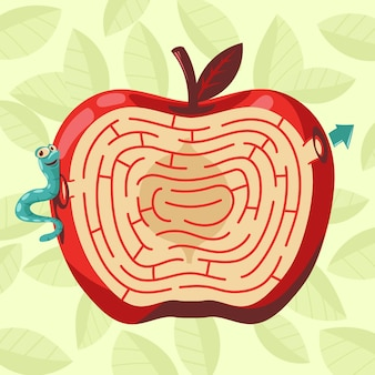 Nettes labyrinth für kinder