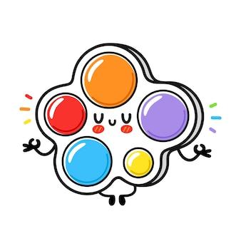 Nettes lustiges einfaches grübchen-meditationsspielzeug