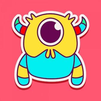 Nettes monster-charakter-design