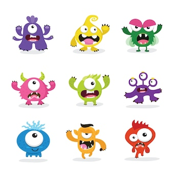 Nettes monster set