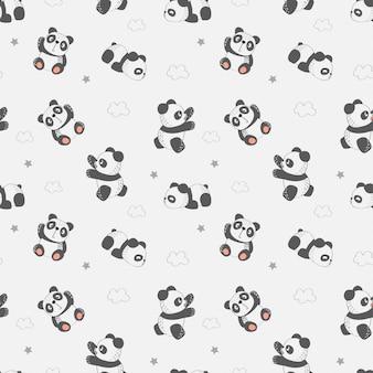 Nettes muster mit panda