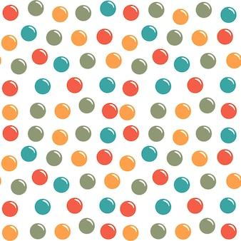 Nettes nahtloses muster mit seifenblase, rundes nahtloses musterdesign, nahtloses muster der ballons