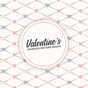 Nettes nahtloses musterdesign für valentinstag