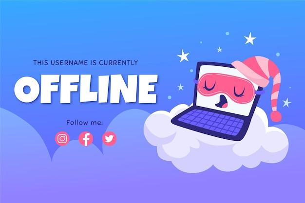 Nettes offline zuckendes banner