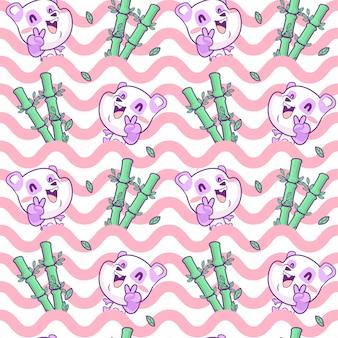 Nettes panda nahtlose muster