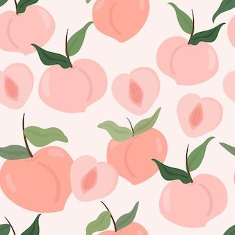 Nettes pfirsichhand gezeichnetes muster