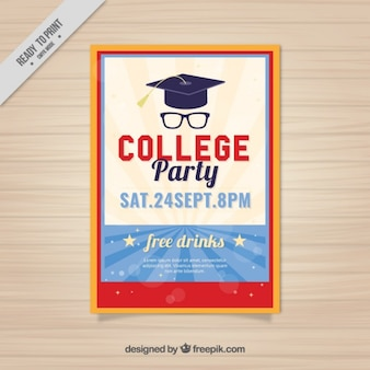 Nettes plakat für college-party