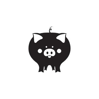 Nettes schwein ist ein symbol für das chinesische neujahr 2019.