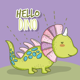 Nettes Styracosaurus-Dino-Tier