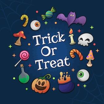 Nettes süßes oder saures halloween design
