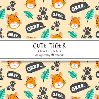 Nettes tigermuster