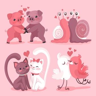 Nettes valentinstagstierpaar