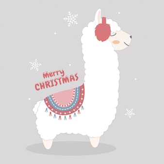 Nettes weihnachtslama