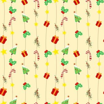 Nettes weihnachtsnahtloses muster