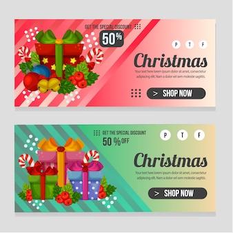 Netzfahnen-weihnachtsschablone mit geschenkgeschenkkasten