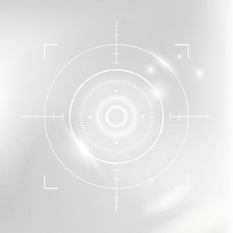 Netzhautbiometrie-scan-cyber-sicherheitstechnologie in weißton