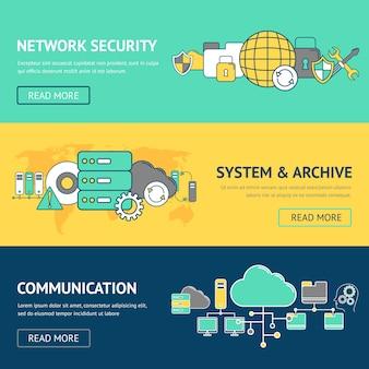 Netzwerk-banner-set