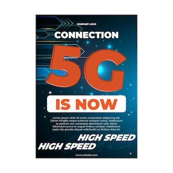 Netzwerk-flyer-vorlage der fünften generation
