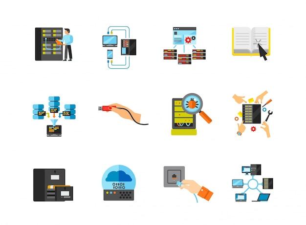 Netzwerk-icons-sammlung