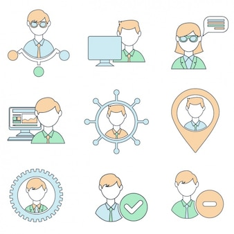 Netzwerk-ikonen-sammlung