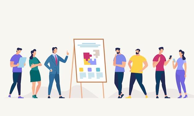 Netzwerk und teamwork. vektor-illustration.