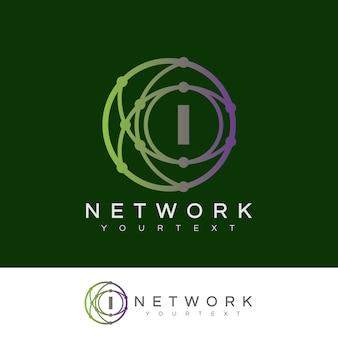 Netzwerkanfang buchstabe i logo design