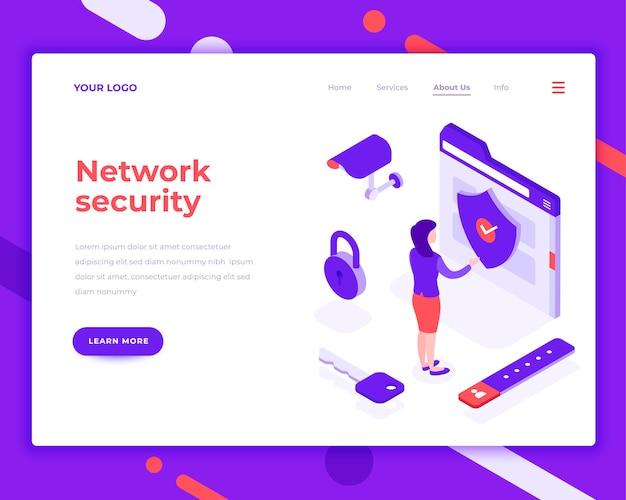 Netzwerksicherheitsleute und interaktion mit ordner