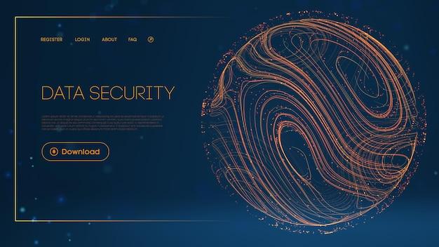 Netzwerksphäre im modernen stil modernes 3d-business-technologie-grafikkonzept
