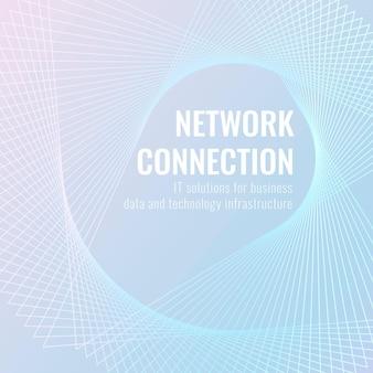 Netzwerkverbindungstechnologie-vorlagenvektor für social-media-post/banner in hellblauem ton
