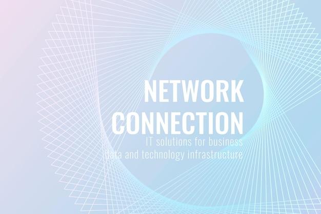 Netzwerkverbindungstechnologie-vorlagenvektor in hellblauem ton