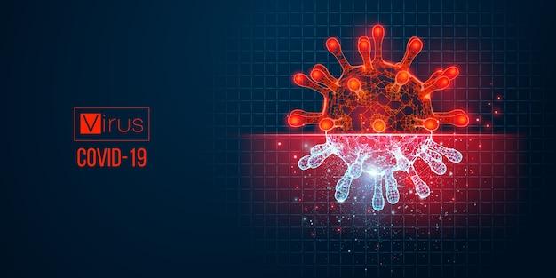 Neuartiger hintergrund für coronavirus-bakterien