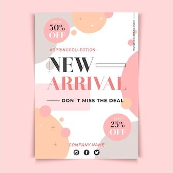 Neue ankunft flyer vorlage design