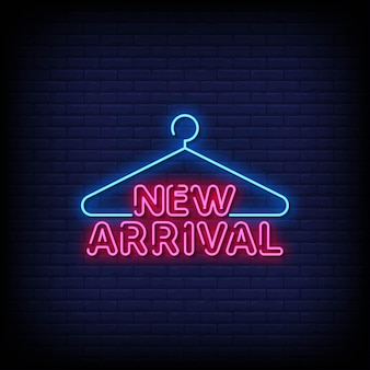 Neue ankunft neon signs style text