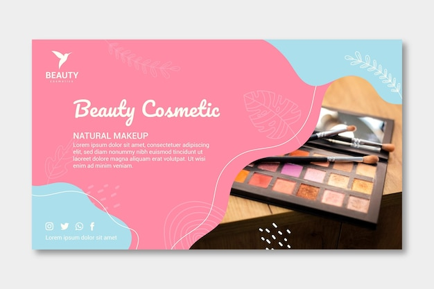 Neue banner-vorlage für die make-up-palette