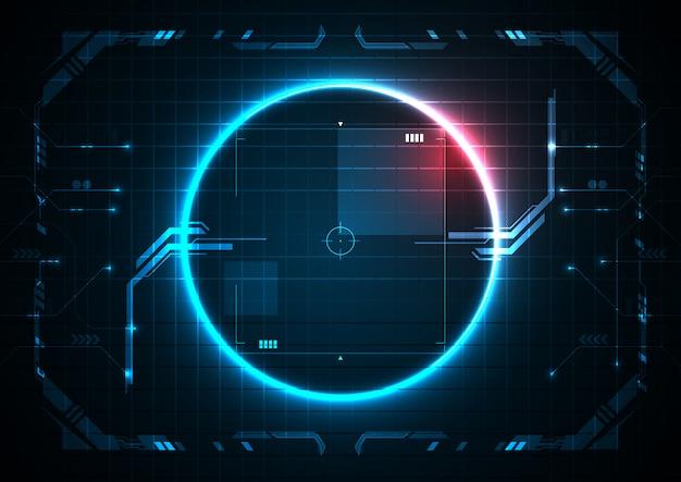 Neue blaue futuristische digitaltechnik-spiel-grenze