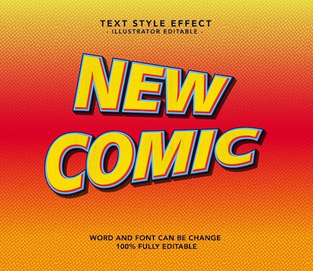 Neue comic-schriftart
