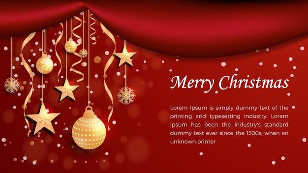 Neue frohe weihnachten neujahr modernes hintergrunddesign festliche glaskugel-winterprüfungen